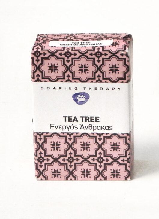 tea tree σαπούνι, ενεργός άνθρακας